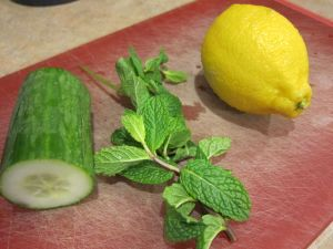 Lemon, Cucumber and Mint Detox Water