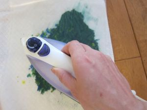 Iron crayon shavings