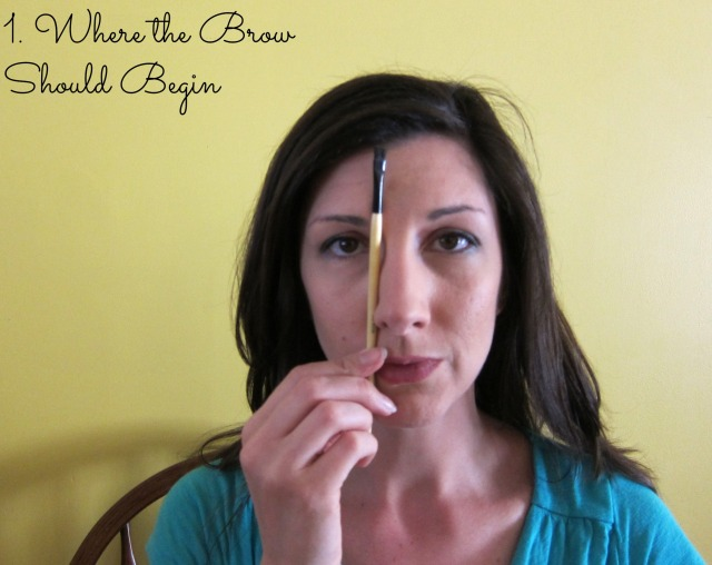Make a straight line from the bottom edge of your nose to your brow. That is where it should start.
