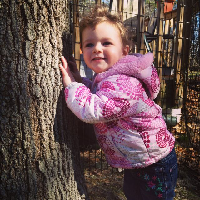 Touch a Tree! And E did. Every last one.