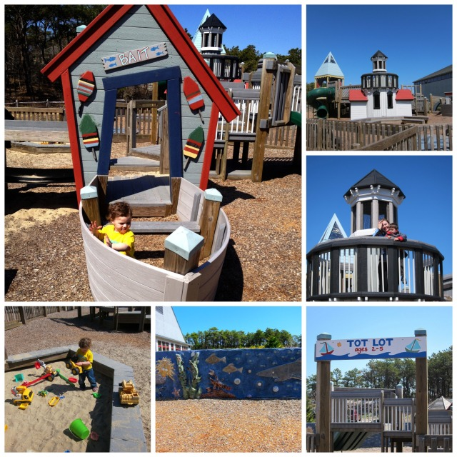 Puma Park in Truro, MA. A fun play space complete with a lighthouse, life size boats and 3D murals.