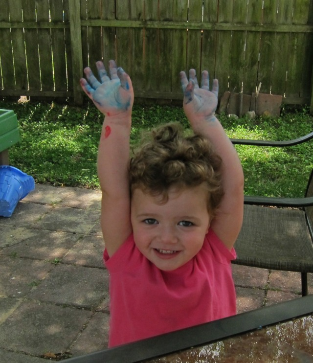 Look Ma, Blue Hands!