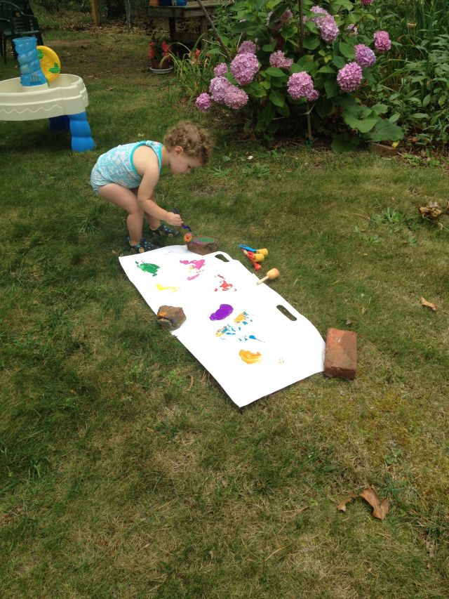 Outdoor Paining And finger Painting